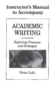 ACADEMIC WRITING INSTRUCTOR´S MANUAL 2ND EDITION