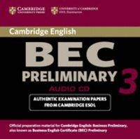 CAMBRIDGE BEC PRELIMINARY 3 AUDIO CD