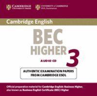 CAMBRIDGE BEC HIGHER 3 AUDIO CD