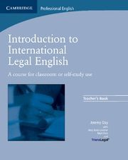 INTRODUCTION TO INTERNATIONAL LEGAL ENGLISH TEACHER'S BOOK
