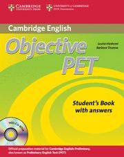OBJECTIVE PET STUDENT'S BOOK WITH ANSWERS WITH CD-ROM 2ND EDITION