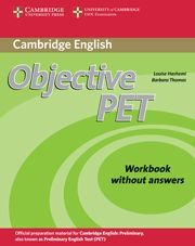 OBJECTIVE PET WORKBOOK WITHOUT ANSWERS 2ND EDITION