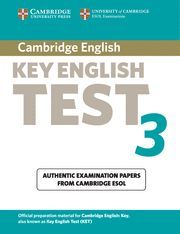 CAMBRIDGE KEY ENGLISH TEST 3 STUDENT´S BOOK