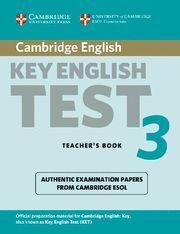CAMBRIDGE KEY ENGLISH TEST 3 TEACHER´S BOOK