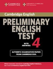 CAMBRIDGE PRELIMINARY ENGLISH TEST 4 STUDENT´S BOOK WITH ANSWERS