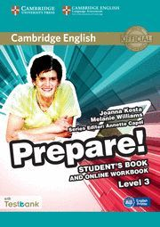PREPARE! 3 STUDENT´S BOOK AND ONLINE WORKBOOK WITH TESTBANK