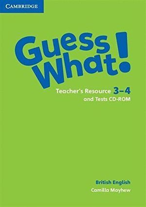 GUESS WHAT 3-4 TEACHERS TEST CD-ROM
