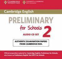 CAMBRIDGE ENGLISH PRELIMINARY FOR SCHOOLS 2 AUDIO CDS (2)