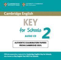 CAMBRIDGE ENGLISH KEY FOR SCHOOLS 2 AUDIO CD