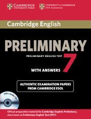 CAMBRIDGE ENGLISH PRELIMINARY 7 STUDENT'S BOOK PACK (STUDENT'S BOOK WITH ANSWERS AND AUDIO CDS (2))