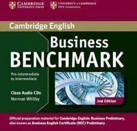 BUSINESS BENCHMARK PRE-INTERMEDIATE TO INTERMEDIATE BUSINESS PRELIMINARY CLASS AUDIO CDS (2) 2ND EDI