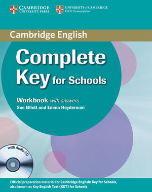 COMPLETE KEY FOR SCHOOLS STUDENT´S PACK WITH ANSWERS (STUDENT´S BOOK WITH CD-ROM, WORKBOOK WITH AUDI