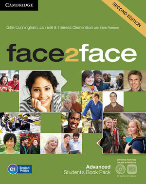 FACE2FACE ADVANCED STUDENT'S BOOK WITH DVD-ROM AND ONLINE WORKBOOK PACK 2ND EDITION