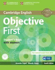 OBJECTIVE FIRST STUDENT'S BOOK WITH ANSWERS WITH CD-ROM 4TH EDITION