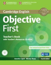 OBJECTIVE FIRST TEACHER'S BOOK WITH TEACHER'S RESOURCES CD-ROM 4TH EDITION