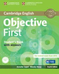OBJECTIVE FIRST STUDENT´S PACK (STUDENT´S BOOK WITHOUT ANSWERS WITH CD-ROM, WORKBOOK WITHOUT ANSWERS