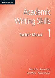 ACADEMIC WRITING SKILLS 1 TEACHER'S MANUAL