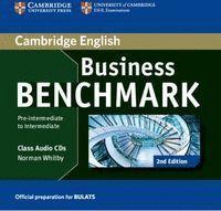 BUSINESS BENCHMARK PRE-INTERMEDIATE TO INTERMEDIATE BULATS CLASS AUDIO CDS (2) 2ND EDITION