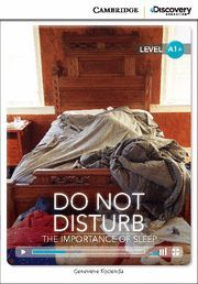 DO NOT DISTURB: THE IMPORTANCE OF SLEEP HIGH BEGINNING BOOK WITH ONLINE ACCESS