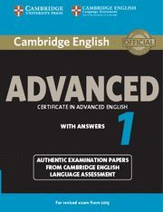CAMBRIDGE ENGLISH: ADVANCED (CAE) 1 (2015 EXAM) STUDENT´S BOOK WITH ANSWERS CERTIFICATE IN ADVANCED
