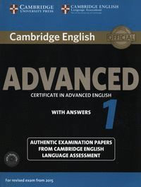 CAMBRIDGE ENGLISH: ADVANCED (CAE) 1 (2015 EXAM) STUDENT´S BOOK PACK (STUDENT´S B
