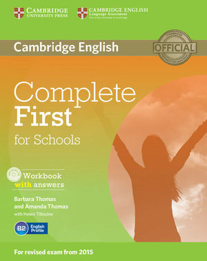 COMPLETE FIRST FOR SCHOOLS WORKBOOK WITH ANSWERS WITH AUDIO CD