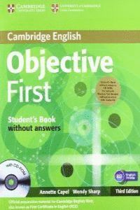 OBJECTIVE FIRST FOR SCHOOLS PACK WITHOUT ANSWERS (STUDENT´S BOOK WITH CD-ROM, PRACTICE TEST BOOKLET