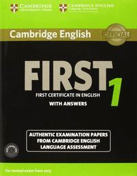 CAMBRIDGE ENGLISH: FIRST (FCE) 1 (2015 EXAM) STUDENT´S BOOK PACK (STUDENT´S BOOK
