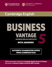 CAMBRIDGE ENGLISH BUSINESS 5 VANTAGE STUDENT´S BOOK WITH ANSWERS