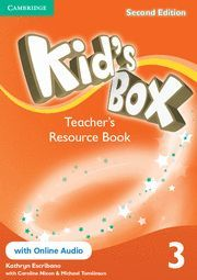 KID´S BOX LEVEL 3 TEACHER´S RESOURCE BOOK WITH ONLINE AUDIO 2ND EDITION