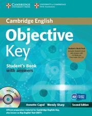 OBJECTIVE KEY STUDENT'S BOOK PACK (STUDENT'S BOOK WITH ANSWERS WITH CD-ROM AND CLASS AUDIO CDS(2)) 2ND EDITION