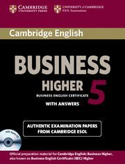 CAMBRIDGE ENGLISH BUSINESS 5 HIGHER SELF-STUDY PACK (STUDENT´S BOOK WITH ANSWERS AND AUDIO CD)