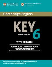 CAMBRIDGE ENGLISH KEY 6 STUDENT´S BOOK WITH ANSWERS