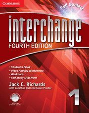 INTERCHANGE LEVEL 1 FULL CONTACT WITH SELF-STUDY DVD-ROM 4TH EDITION