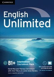 ENGLISH UNLIMITED INTERMEDIATE COURSEBOOK WITH E-PORTFOLIO AND ONLINE WORKBOOK PACK