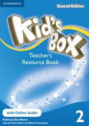 KID´S BOX LEVEL 2 TEACHER´S RESOURCE BOOK WITH ONLINE AUDIO 2ND EDITION