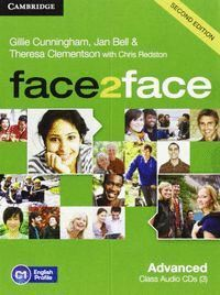 FACE2FACE ADVANCED CLASS AUDIO CDS (3) 2ND ED