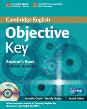 OBJECTIVE KEY FOR SCHOOLS PACK WITHOUT ANSWERS (STUDENT'S BOOK WITH CD-ROM AND PRACTICE TEST BOOKLET) 2ND EDITION