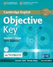 OBJECTIVE KEY STUDENT'S BOOK WITH ANSWERS WITH CD-ROM WITH TESTBANK 2ND EDITION