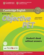 OBJECTIVE PET STUDENT'S BOOK WITHOUT ANSWERS WITH CD-ROM WITH TESTBANK 2ND EDITION