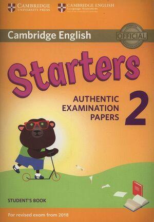 STARTERS 2 STUDENT´S BOOK (2018 EXAM)