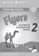 FLYERS 2 ANSWER BOOKLET (2018 EXAM)