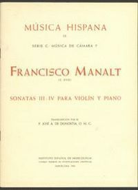 SONATAS III-IV PARA VIOLÍN Y PIANO