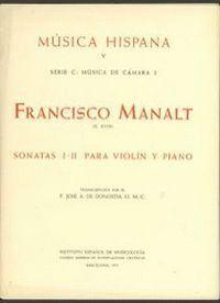 SONATAS I-II PARA VIOLÍN Y PIANO