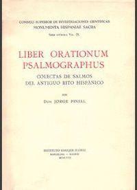 LIBER ORATIONUM PSALMOGRAPHUS