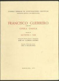 OPERA OMNIA. TOMO III. MOTETES I-XXII