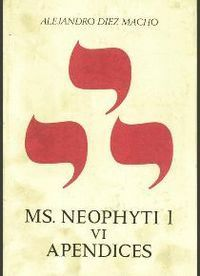 NEOPHYTI 1, TARGUM PALESTINENSE MANUSCRITO DE LA BIBLIOTECA VATICANA. TOMO VI. APÉNDICES