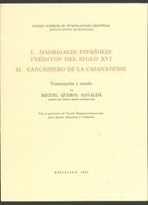 MADRIGALES ESPAÑOLES INÉDITOS DEL SIGLO XVI