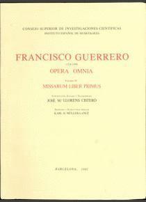 OPERA OMNIA. TOMO IV. MISSARUM LIBER PRIMUS