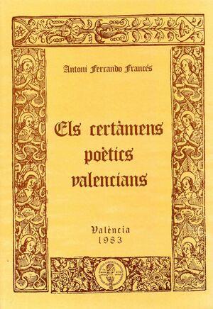 CERTÀMENS POÈTICS VALENCIANS DEL SEGLE XIV AL XIX